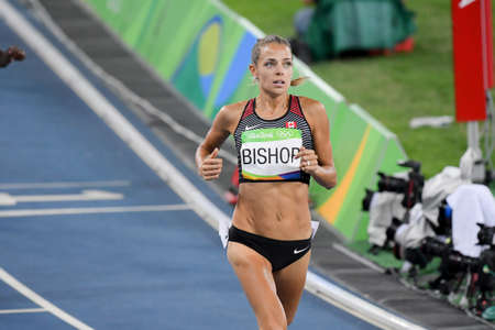 janeiro: Rio de Janeiro, Brazil - august 18, 2016: Runner BISHOP Melissa (CAN) during 800m Womens run in the Rio 2016 Olympics Games