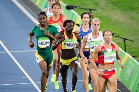 Rio de Janeiro, Brazil - august 16, 2016: Runner Yarigo Noelie (BEN) during 800m womens run in the Rio 2016 Olympics Editorial