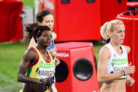 Rio de Janeiro, Brazil - august 16, 2016: Runner xxxxxxxYarigo Noelie (BEN)xxxx during 800m womens run in the Rio 2016 Olympics