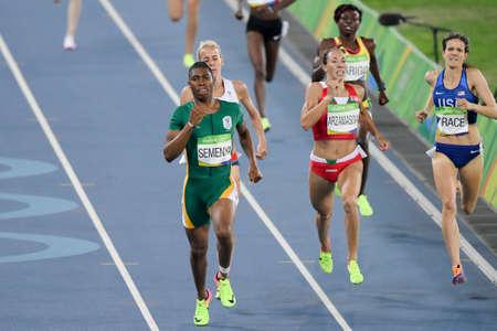 iRio de Janeiro, Brazil - august 18, 2016: Runner ARZAMASOVA Marina (BLR) during 800m Womens run in the Rio 2016 Olympics Games Editorial