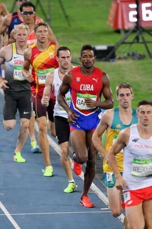 Rio de Janeiro, Brazil - august 18, 2016: Runner GARCIA Yordani (CUB) during Decathon 1500m Mens run in the Rio 2016 Olympics Editorial