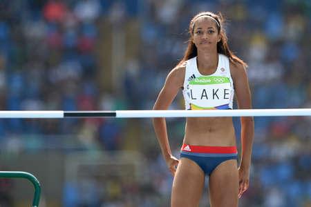Rio de Janeiro, Brazil - august 18, 2016: LAKE Morgan (GBR) during womens high jump in the Rio 2016 Olympics Games