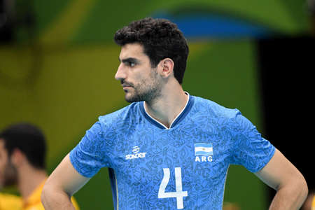 Rio de Janeiro, Brazil - august 17, 2016: Martin RAMOS (ARG) during Men´s Volleyball, match Brazil and Argentina in the Rio 2016 Olympics Editorial
