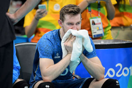 Rio de Janeiro, Brazil - august 17, 2016: Cristian POGLAJEN (ARG) during Men´s Volleyball, match Brazil and Argentina in the Rio 2016 Olympics