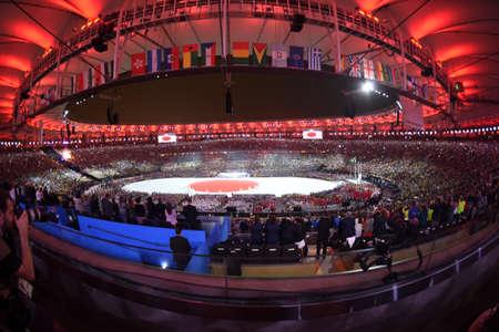 Rio de Janeiro, Brazil - august 21, 2016: Closing Ceremony of the Rio 2016 Olympic Games at the Maracanã Stadium
