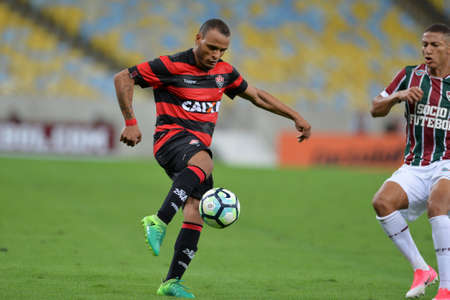 Rio, Brazil - jun 03, 2017: Patric player in match between Fluminense and Vitoria by the Brazilian championship in Maracana Stadium