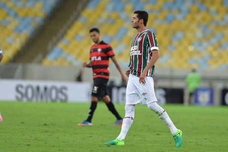 Rio, Brazil - jun 03, 2017: Renato player in match between Fluminense and Vitoria by the Brazilian championship in Maracana Stadium