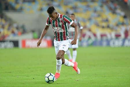Rio, Brazil - jun 03, 2017: Leo player in match between Fluminense and Atletico PR by the Brazilian championship in Maracana Stadium