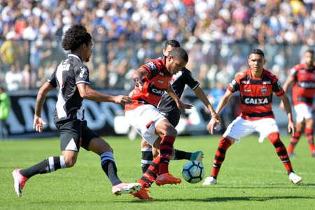 Rio, Brazil - jun 26, 2017: Silva player in match between Vasco and  Atletico-GO by the Brazilian championship in Sao Januario Stadium