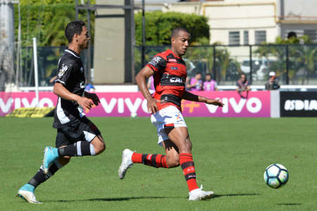 Rio, Brazil - jun 26, 2017: Yago Pikachu and Bruno Lopes player in match between Vasco and  Atletico-GO by the Brazilian championship in Sao Januario Stadium Editorial