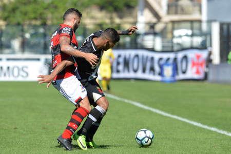 Rio, Brazil - jun 26, 2017: xxxxxxx player in match between Vasco and  Atletico-GO by the Brazilian championship in Sao Januario Stadium Editorial