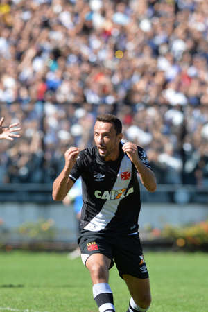 Rio, Brazil - jun 26, 2017: Nene player in match between Vasco and  Atletico-GO by the Brazilian championship in Sao Januario Stadium