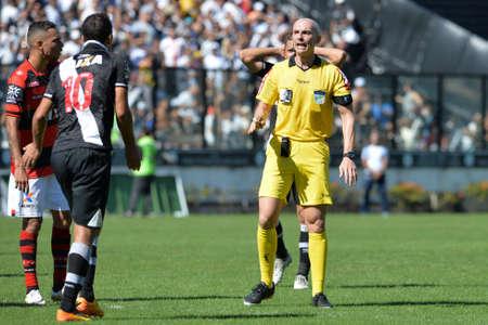 Rio, Brazil - jun 26, 2017: Árbitro Dyorgines Jose Padovani de Andrade  referee in match between Vasco and  Atletico-GO by the Brazilian championship in Sao Januario Stadium