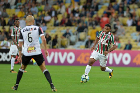 Rio, Brazil - august 21, 2017: Wendel player in match between Fluminense and  Atletico-MG by the Brazilian championship in Maracana Stadium Editorial