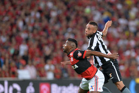 Rio, Brazil - august 23, 2017: Rodinei player in match between Flamengo and  Botafogo by the Brazil Cup in Maracana Stadium