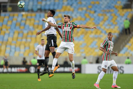 Rio, Brazil - july 23, 2017: Henrique player in match between Fluminense and  Corinthians by the Brazilian championship in Maracana Stadium