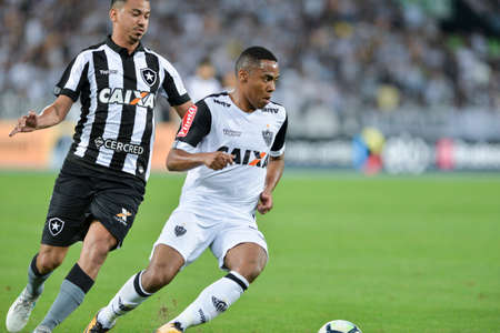 Rio, Brazil - july 26, 2017: Elias player in match between Botafogo and  Atletico-MG by the Brazil Cup in Nilton Santos Stadium