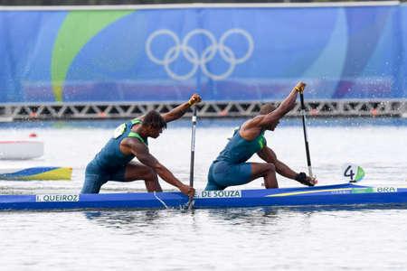 Rio de Janeiro, Brazil, august 20, 2016. CANOE SPRINT - de SOUZA SILVA Erlon and QUEIROZ dos SANTOS Isaquias during Mens Canoe Double 1000m at the 2016 Summer Olympic Games in Rio de Janeiro.