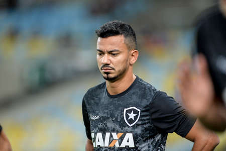 Rio, Brazil - july 12, 2017: xxxxxxx player in match between Fluminense and  Botafogo by the Brazilian championship in Maracana Stadium