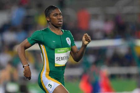 Rio de Janeiro, Brazil - august 20, 2016: SEMENYA Caster (RSA) during womens 800m in the Rio 2016 Olympics Games Editorial