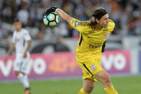 Rio, Brazil - october 21, 2017: Cassio goal keeper in match between Vasco and Coritiba by the Brazilian championship in Maracana Stadium Redactioneel