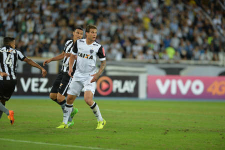 Rio, Brazil - jun 09, 2017: Rafael Marques player in match between Botafogo and  Atletico-MG by the Brazilian championship in Nilton Santos Stadium Editorial