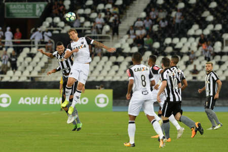 Rio, Brazil - jun 09, 2017: match between Botafogo and  Atletico-MG by the Brazilian championship in Nilton Santos Stadium