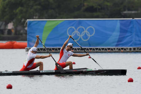 Rio de Janeiro, Brazil, august 20, 2016. CANOE SPRINT - KAMINSKI Mateusz,  KUDLA Michal (POL) during Mens Canoe Double 1000m at the 2016 Summer Olympic Games in Rio de Janeiro.