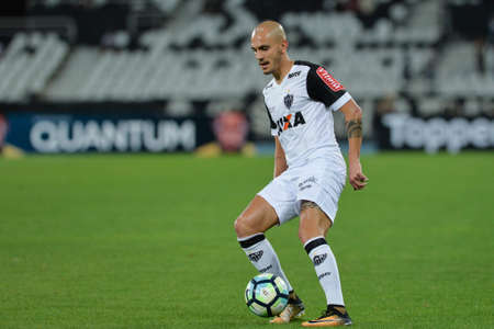 Rio, Brazil - july 26, 2017: Fábio Santos player in match between Botafogo and  Atletico-MG by the Brazil Cup in Nilton Santos Stadium