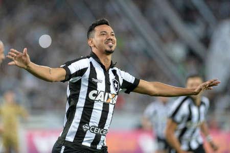 Rio, Brazil - july 17, 2017: Rodrigo Lindoso player in match between Botafogo and  Sport by the Brazilian championship in Nilton Santos Stadium