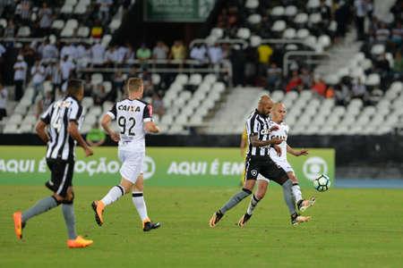 Rio, Brazil - jun 09, 2017: Bruno Silva player in match between Botafogo and  Atletico-MG by the Brazilian championship in Nilton Santos Stadium