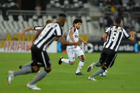 Rio, Brazil - july 26, 2017: Luan player in match between Botafogo and  Atletico-MG by the Brazil Cup in Nilton Santos Stadium