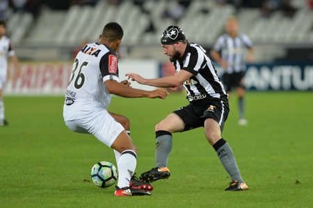 Rio, Brazil - july 26, 2017: Joao Paulo, Bremer player in match between Botafogo and  Atletico-MG by the Brazil Cup in Nilton Santos Stadium