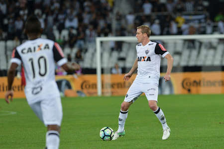 Rio, Brazil - july 26, 2017: Adilson player in match between Botafogo and  Atletico-MG by the Brazil Cup in Nilton Santos Stadium Editorial