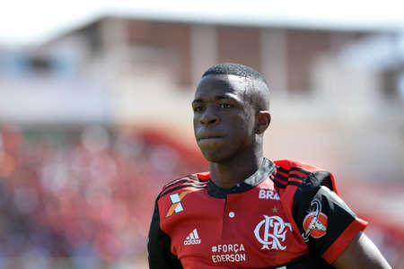Rio, Brazil - august 06, 2017: Vinicius Junior player in match between Flamengo and Vitoria by the Brazilian championship in Ilha do Urubu Stadium