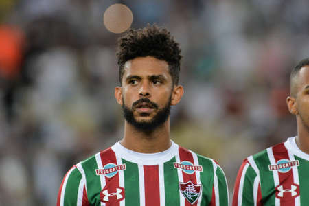 Rio, Brazil - august 05, 2017: Renato Chaves player in match between Fluminense and  Atletico-GO by the Brazilian championship in Maracana Stadium
