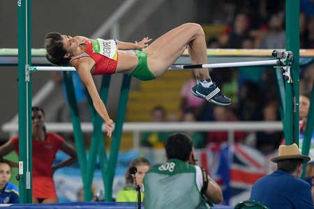 Rio de Janeiro, Brazil - august 20, 2016: DEMIREVA Mirela (BUL) during women´s high jump in the Rio 2016 Olympics Games Editorial