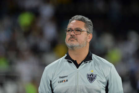 Rio, Brazil - july 26, 2017: Rogerio Micale coach in match between Botafogo and  Atletico-MG by the Brasil Cup in Nilton Santos Stadium Editorial