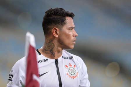 Rio, Brazil - july 23, 2017: Giovanni Augusto player in match between Fluminense and  Corinthians by the Brazilian championship in Maracana Stadium