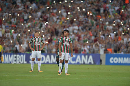 Rio, Brazil - september 14, 2017: Douglas player in match between Fluminense and  LDU by the Sulamericana Cup 2017 in Maracana Stadium Editorial