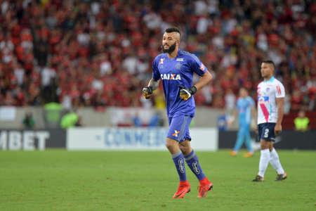 Rio, Brazil - november 23, 2017: Muralha goal keeper in match between Flamengo and Junior de Barranquilla by the Brazilian championship in Maracana Stadium