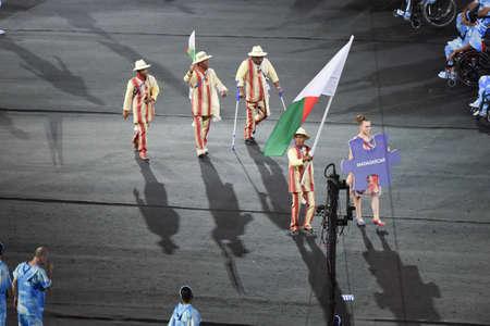 Rio de Janeiro, Brazil - september 07, 2016: opening ceremony of the Paralympics Rio 2016 at Maracana Stadium Foto de archivo - 95865507