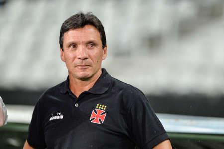 Rio, Brazil - march 07, 2018: Ze Ricardo coach in match between Vasco and Fluminense by the Carioca Championship in Nilton Santos Stadium Editorial
