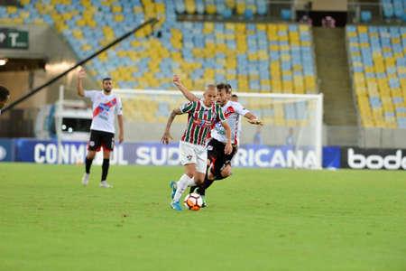 Rio, Brazil - april 11, 2018: Marcos Junior player in match between Fluminense and Nacional Potossi by the sulamerica Championship in Maracana Stadium