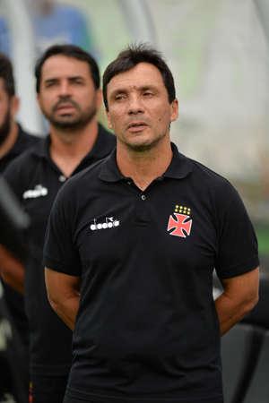 Rio, Brazil - april 15, 2018: Ze Ricardo coach in match between Vasco and Atletico-MG by the Brazilian Championship in Sao Januario Stadium Editorial