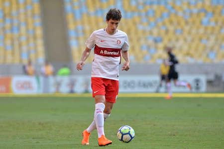 Rio, Brazil - may 06, 2018: Rodrigo Dourado player in match between Flamengo and Internacional by the Brazilian Championship in Maracana Stadium