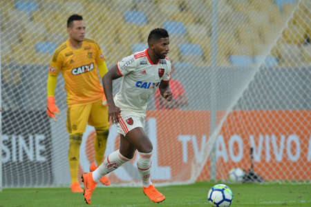 Rio, Brazil - may 31, 2018: Rodinei player in match between Flamengo and Bahia by the Brazilian Championship in Maracana Stadium
