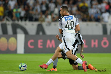 Rio, Brazil - june 06, 2018: Arthur Cabral player in match between Botafogo and Ceara by the Brazilian Championship in Nilton Santos Stadium