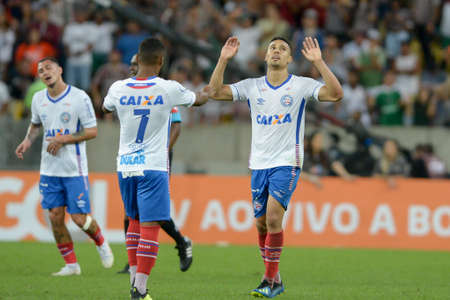 Rio, Brazil - august 5, 2018: Edigar Junior player in match between Fluminense and Bahia by the Brazilian Championship in Maracana Stadium