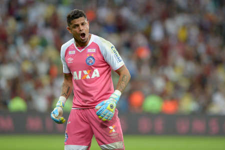 Rio, Brazil - august 5, 2018: Anderson goal keeper in match between Fluminense and Bahia by the Brazilian Championship in Maracana Stadium